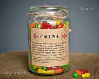 Chill Pill for NURSE Self Adhesive Labels for DIY Chill Pill Funny ...