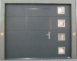 Porte Garage Sectionnelle Gris Portillon Integre Porte Garage Renovation Maison Porte Entree Alu