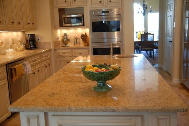 Best Kashmir Gold Granite Countertops W White Cabinets Faux 400 x 300