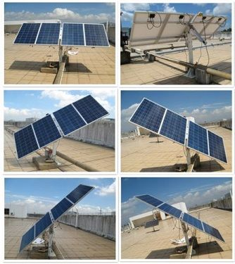 400 Watt Complete Dual Axis Solar Tracking System With Mountings 35 More Power Solar Panels Best Solar Panels Solar House