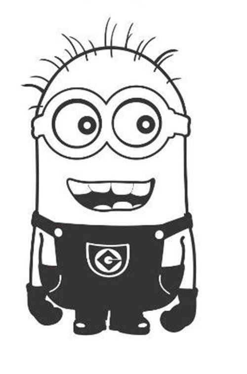Despicable Me Smiling Arms Down Minion - Die Cut Vinyl Sticker Decal ...