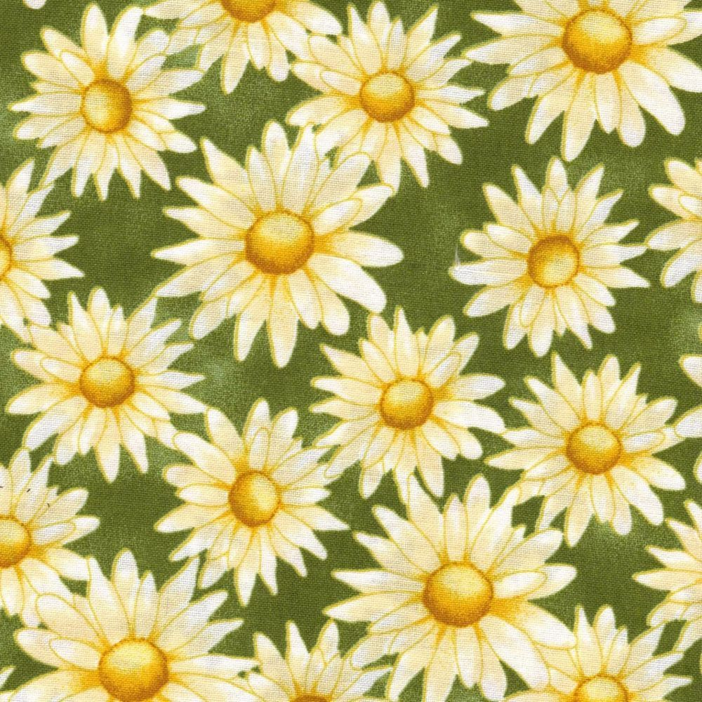 Large Yellow Daisy Quilting fabric 100% Cotton By The 1/2 yard  | Crafts, Sewing, Quilting | eBay!