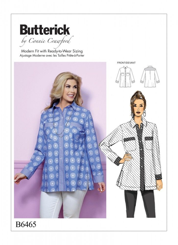 Garderobe In Engels.Blouse Maat 32 34 48 50 Butterick 6465 Gertsherenmode Vogue