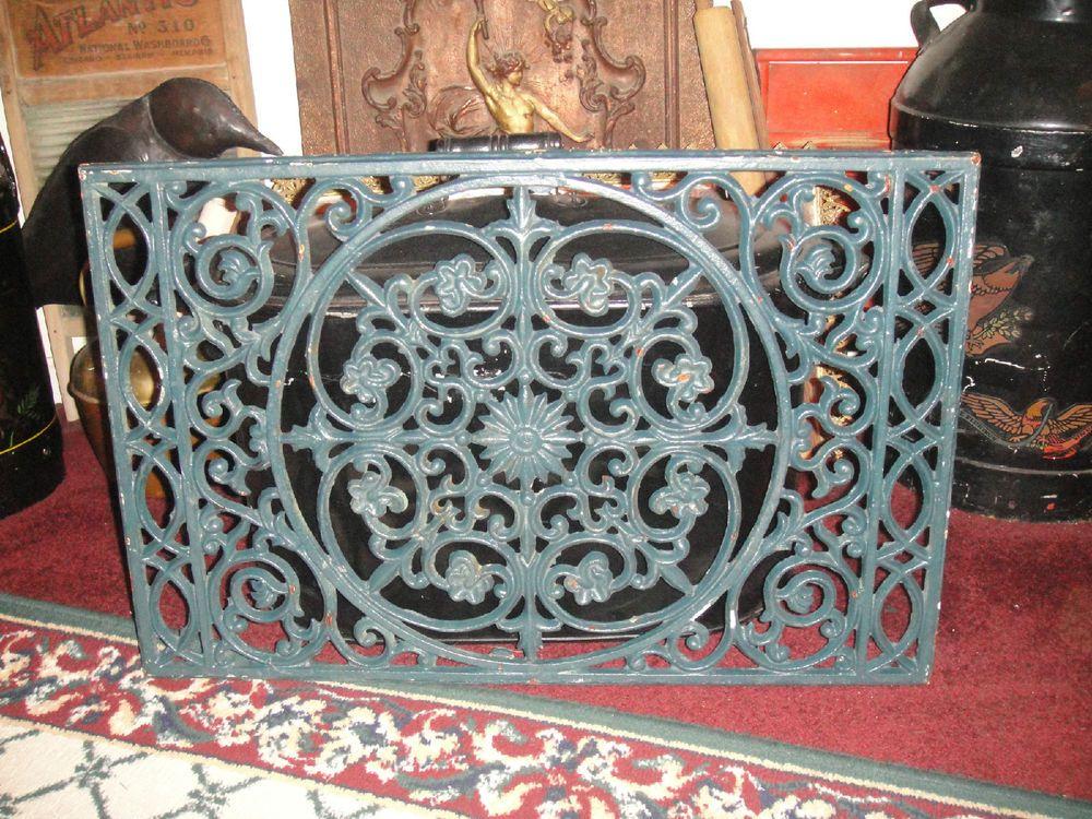 Superb Cast Iron Door Mat Cast Iron Yard Or Wall Art Large Geometric Pattern