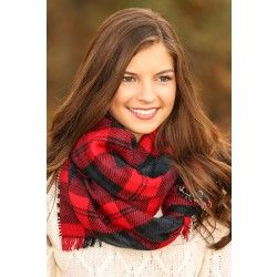 I already own this in another color but this is probably my favorite, most cozy scarf! Reddress // Autumn Accent Reversible Plaid Scarf-Cranberry - $44.00