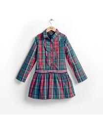124abb51c Vestido de niña Trasluz de cuadros estampado