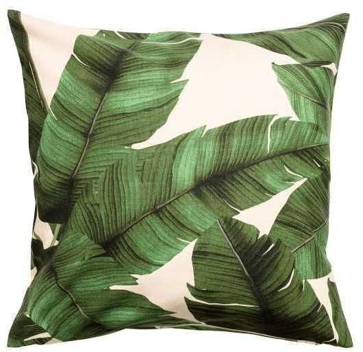H M Leaf Print Cushion Cover Printed Cushion Covers Printed Cushions H M Home