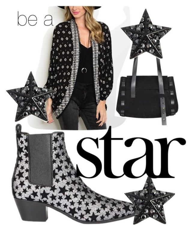 """be a star"" by glasspaperscizzors ❤ liked on Polyvore featuring Yves Saint Laurent and Mercedes-Benz"