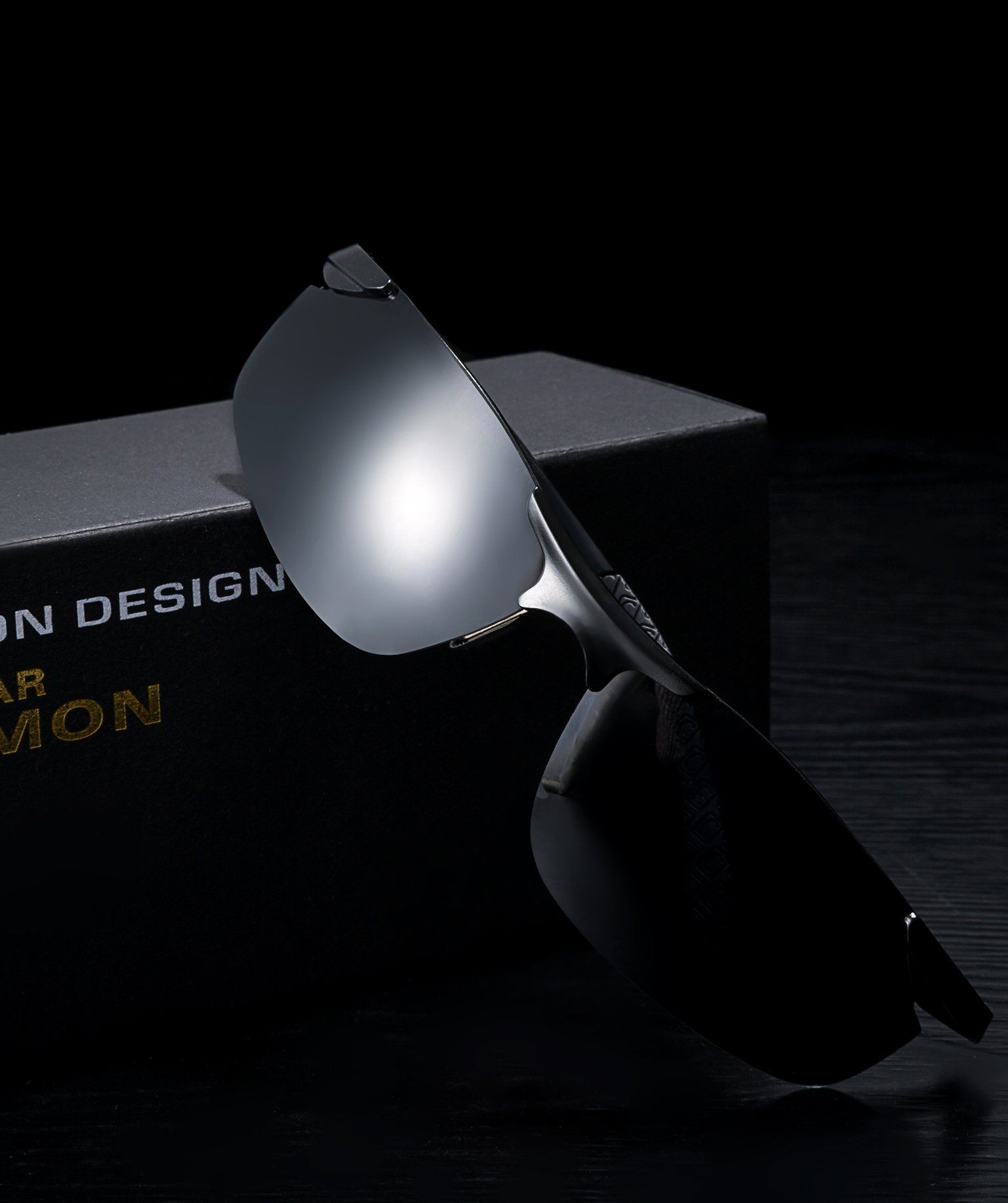 d2d303872c Men Golf Clothing - LUOMON Mens Polarized WrapAround Sport Sunglasses AlMg  Aloy Black Frame Grey Lens Unbreakable Frame LM8179