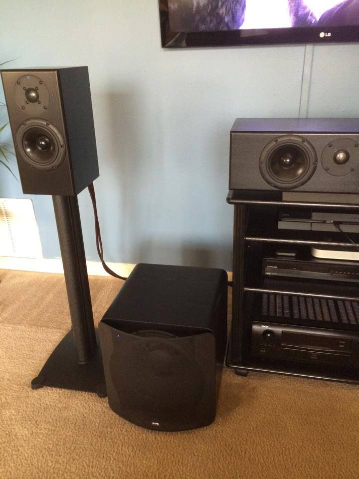Ultra Bookshelf, Ultra sub, and Ultra channel in this home theater ...