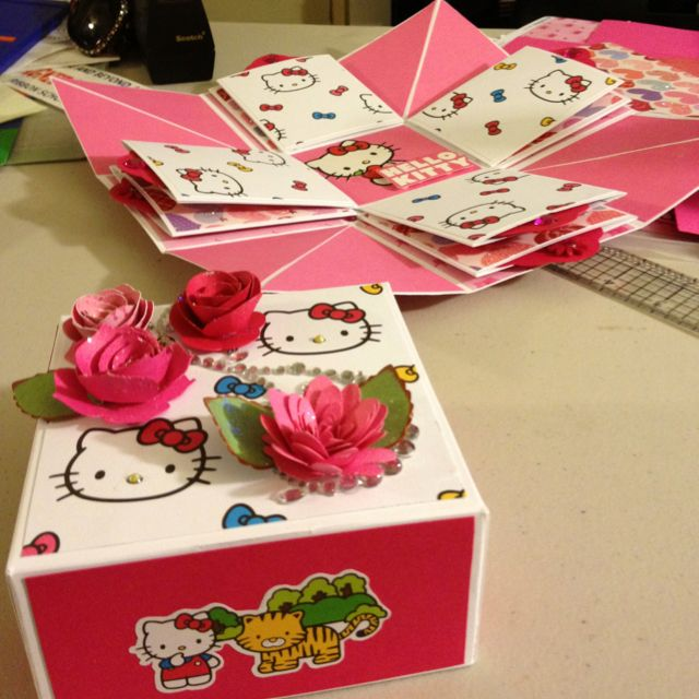 bff966d63 Hello Kitty Explosion Box | Paper and Crafts | Explosion box ...