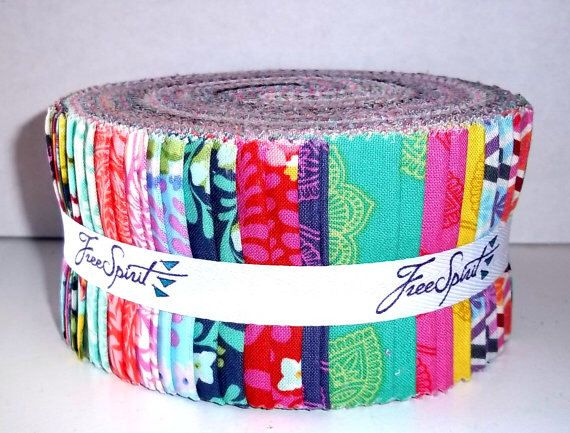 30 Piece Jelly Rolls by Free Spirit! Tula Pink Eden by CarolinaCottonCo on Etsy https://www.etsy.com/listing/229309123/30-piece-jelly-rolls-by-free-spirit-tula