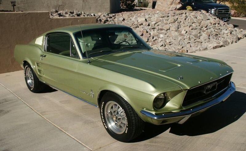 Lime Gold Green 1967 Ford Mustang Fastback Mustangattitude Com Mobile Mustangclassiccars Mustang Fastback Ford Mustang Fastback Mustang Cars