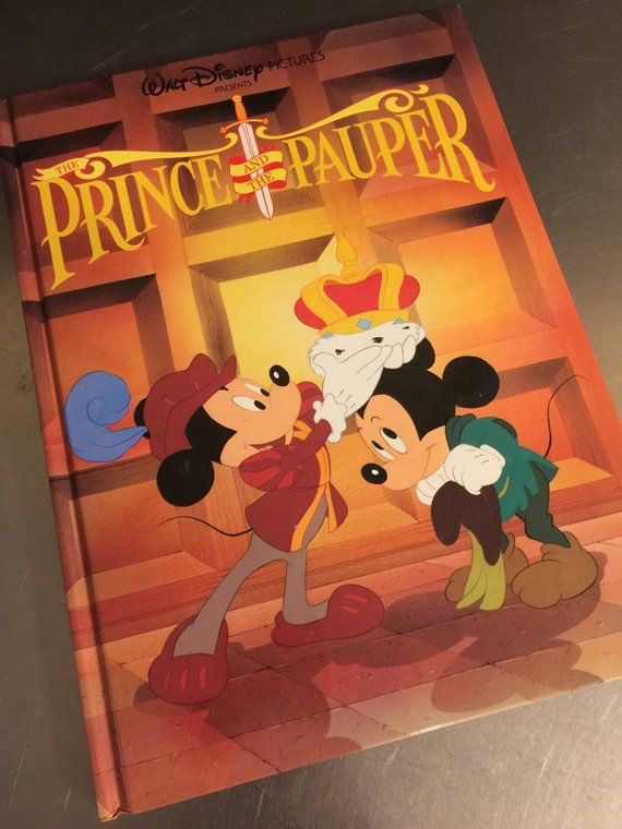Walt Disney Kids Book Prince and Pauper Mickey Mouse Gallery Books