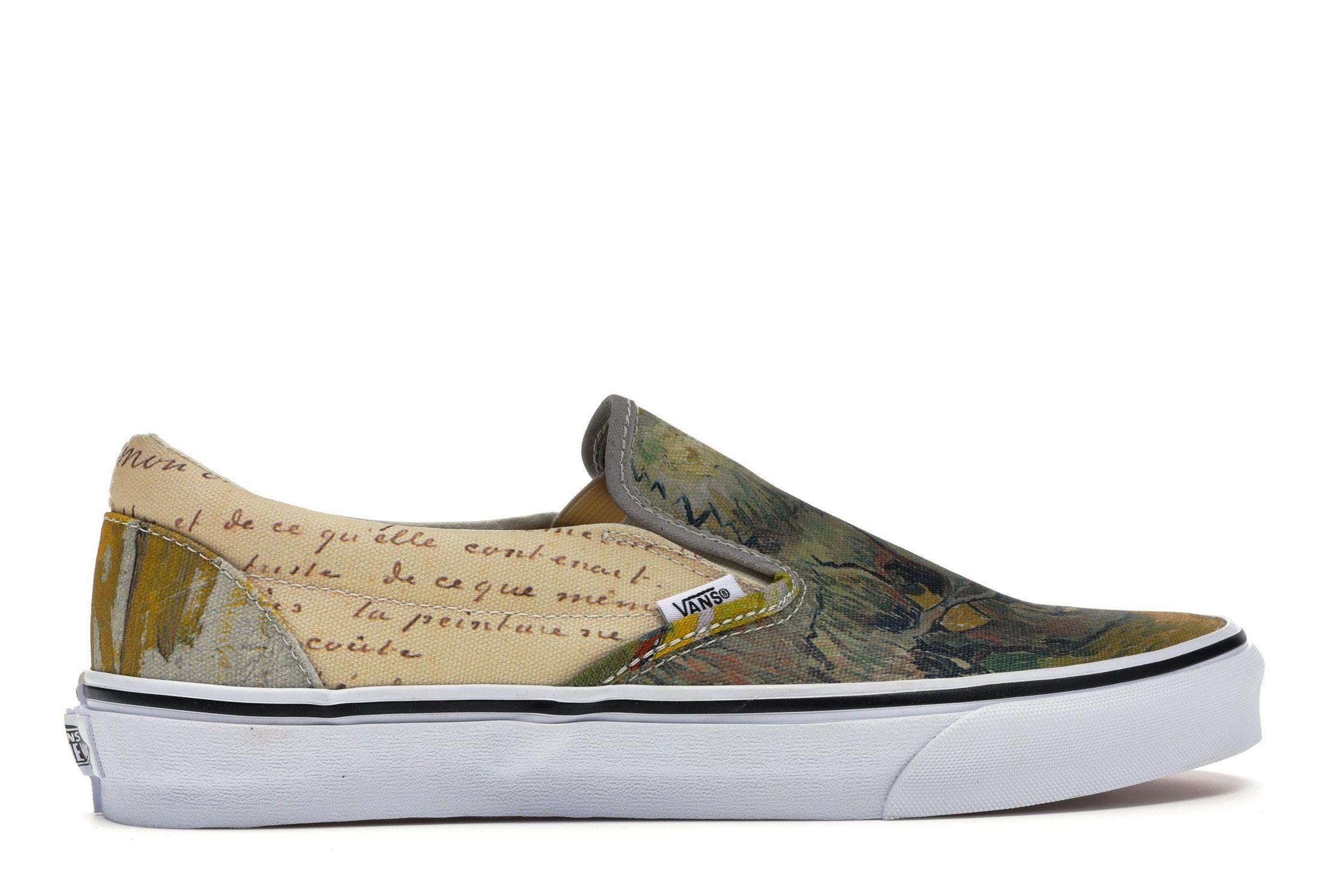 Vans Slip On Van Gogh Skull W Vans Slip On Vans Custom Vans Shoes