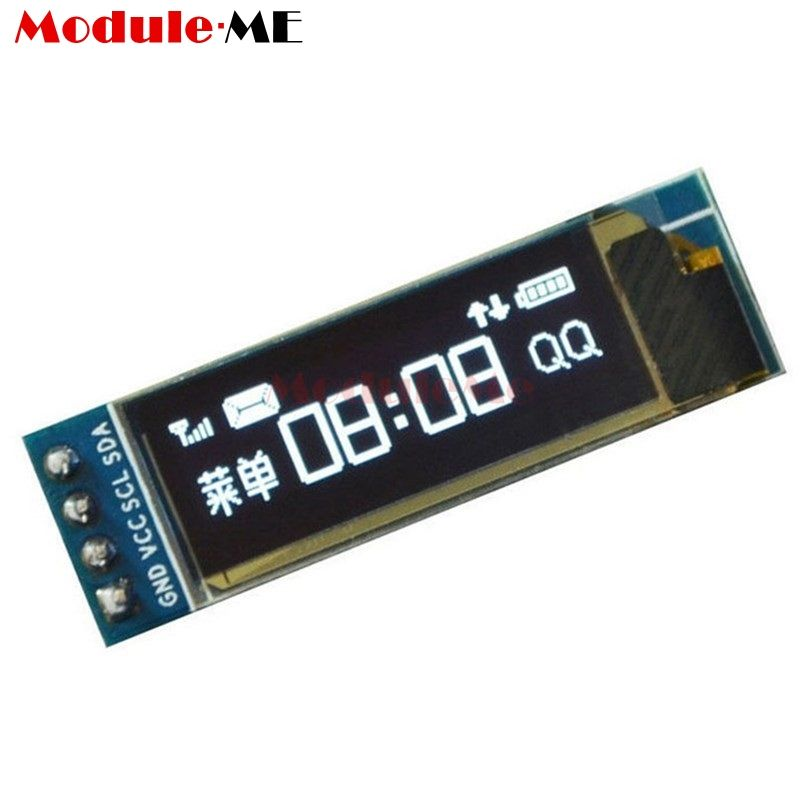 "Modulo schermo LCD OLED bianco 128x32 IIC I2C 0.91 /""Schermo display AVR Arduino"