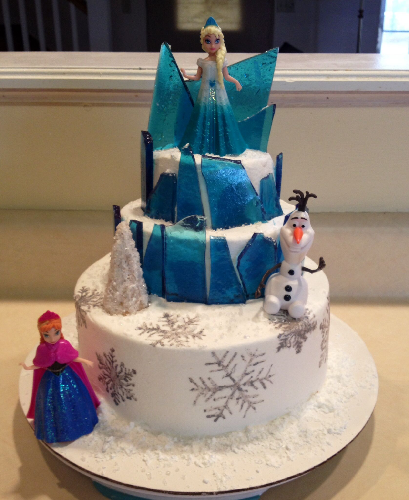 Frozen Cake Decoration Images : Frozen Theme Cake Supplies Party Invitations Ideas