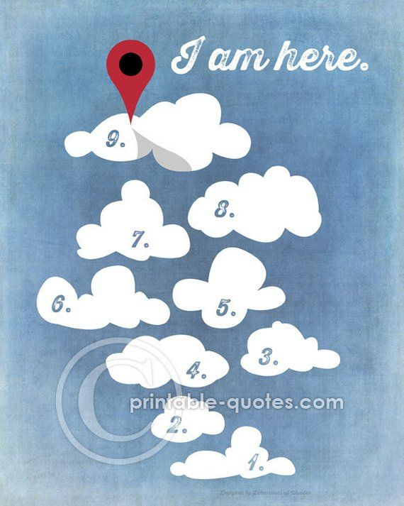 PRINTABLE Art (INSTANT DOWNLOAD) Cloud 9, cloud nine, happy
