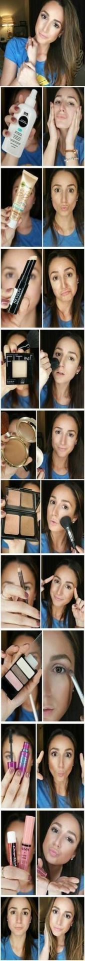 Photo of 55 ideas for the makeup tutorial for beginners contour products  #Beginner # f …