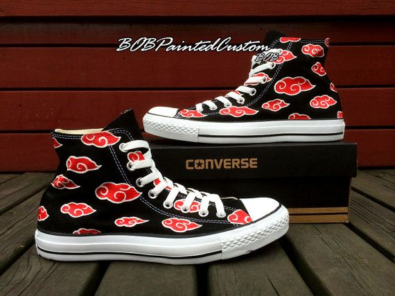 Naruto Akatsuki Shoes Anime Converse for Men by