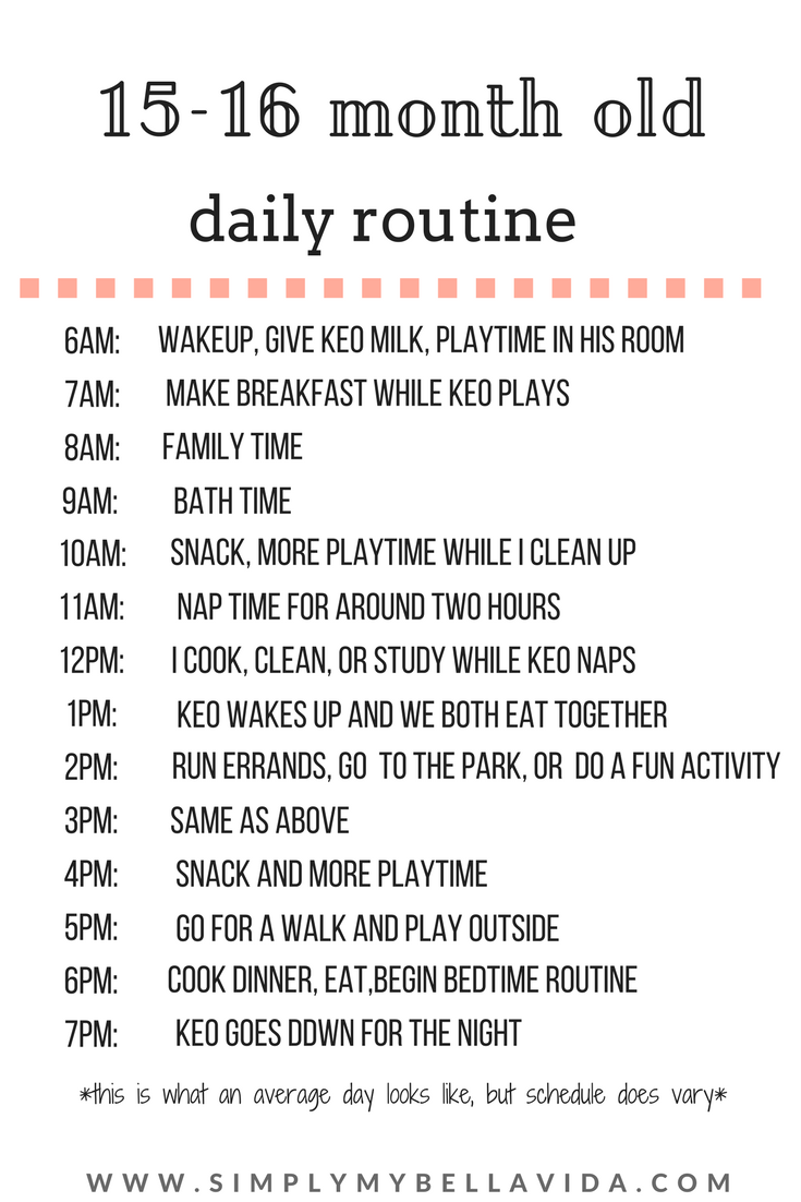 15-16 month old daily routine | baby schedule | baby schedule
