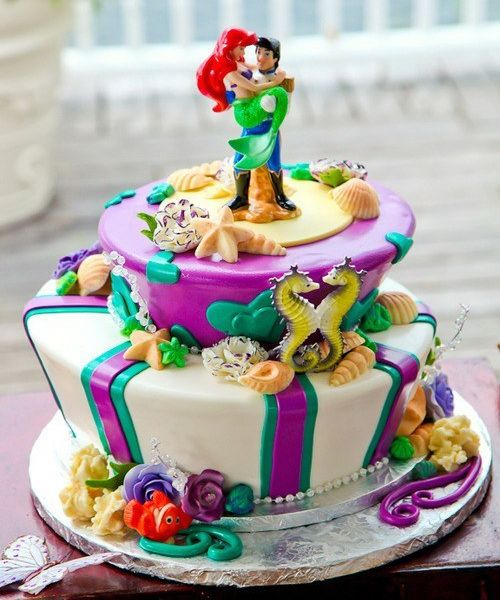 Ariel Wedding Cake FROM Funny Cakes Disney