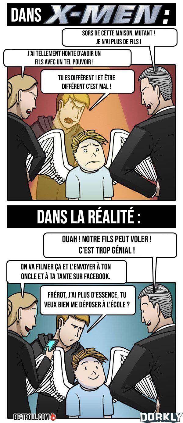 Les Pouvoirs Dans X Men Dans La Realite Humour Drole Merveilleux Et Image Mdr
