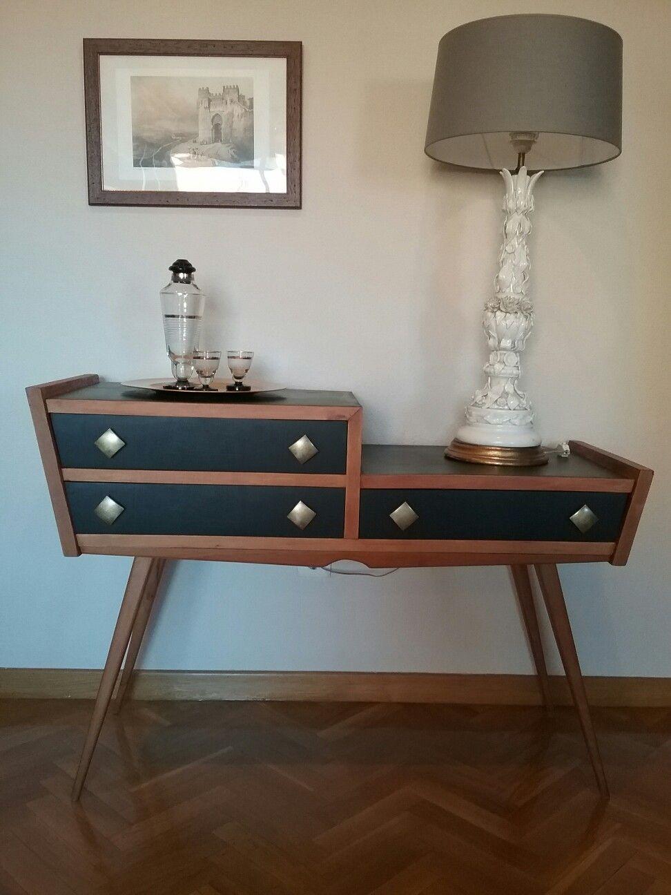 Aparador Vintage Espa A Circa A Os 50 Restaurado Por Style Vintage  # Muebles Mocholi