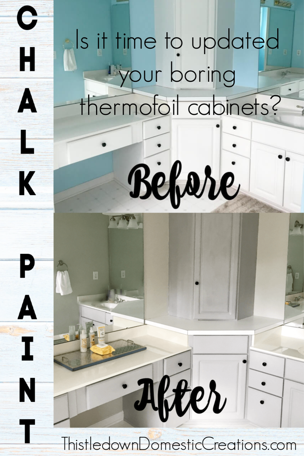 Update Your Thermofoil Cabinets With Chalk Paint For A Whole New Look Thermofoil Cabinets Cabinet Kitchen Design Small