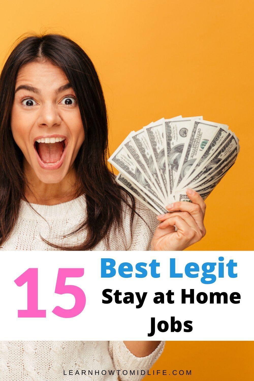 15 Best Legitimate Work From Home Jobs Earn 50 Hour Work From Home Jobs Home Jobs Legitimate Work From Home