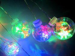 Globe lamp colorful lights lamp holiday lights wedding decoration led lighting lights exquisite plastic hanging lamp
