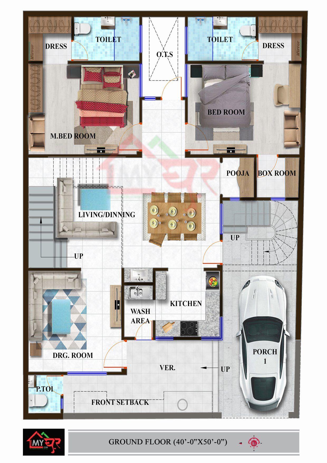 40 X 50 House Plans Best Of Floor Plan For 40 X 50 Feet Plot Kayleighdickinson Best In 2021 Indian House Plans My House Plans Cottage Style House Plans
