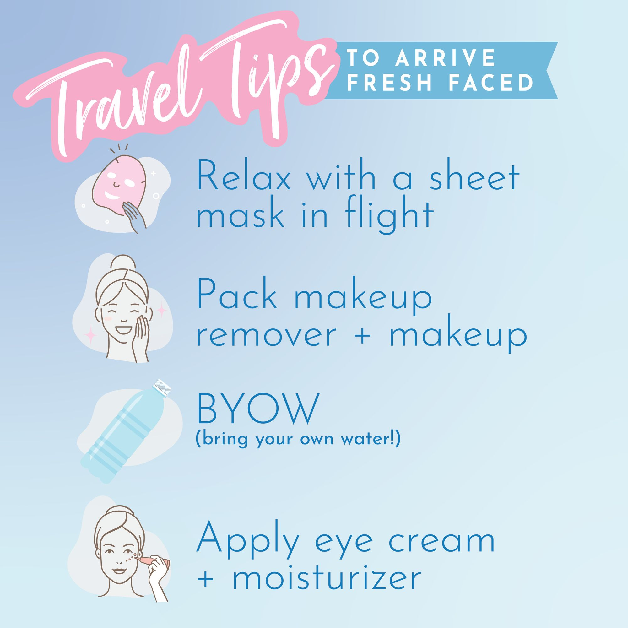 1111 Travel Tips To Arrive Fresh Faced 11. Relax with a sheet mask in