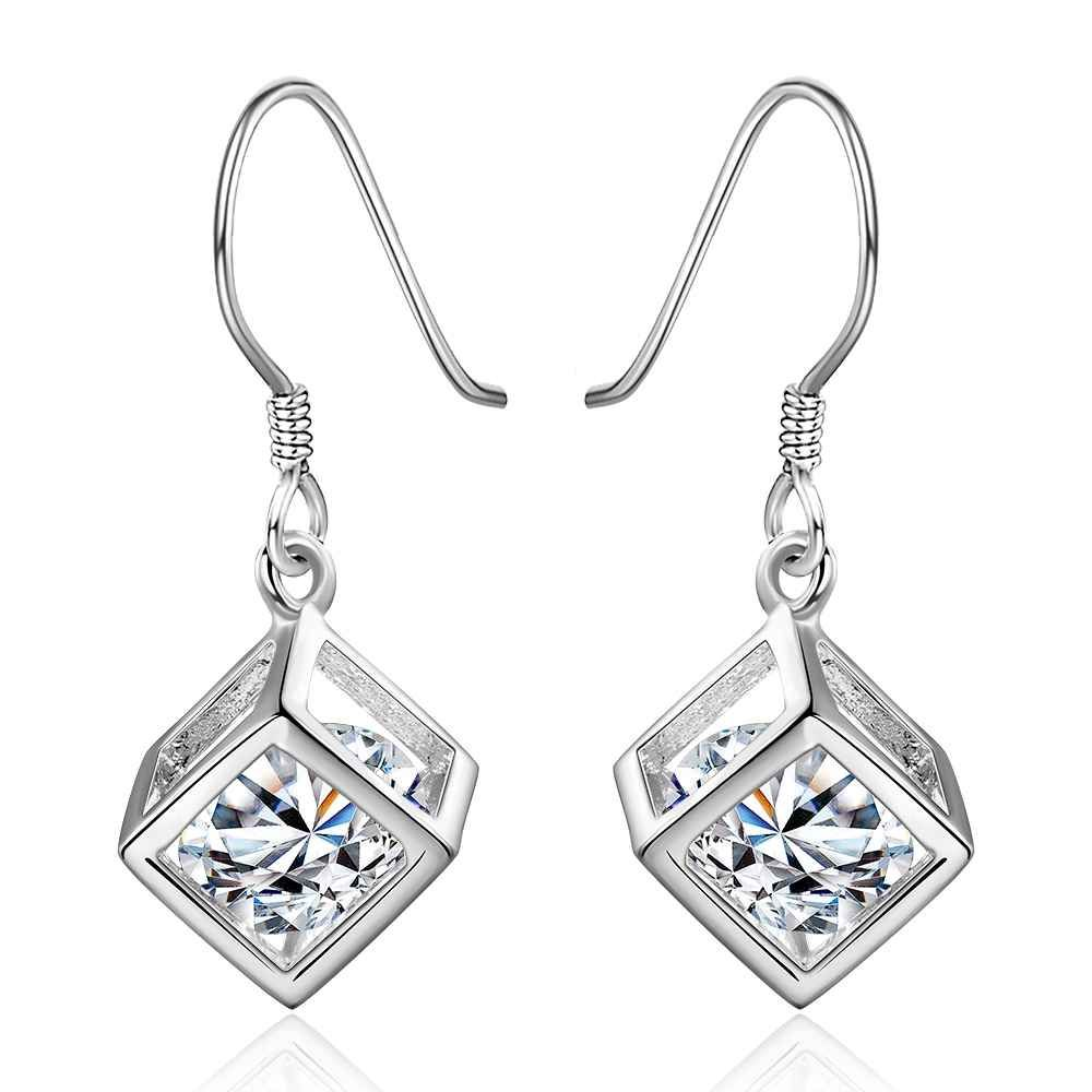 white typical image crystal bridal earrings stud swarovski