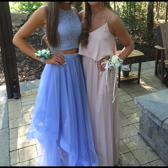 Periwinkle prom dress Two piece periwinkle prom dress worn once ...
