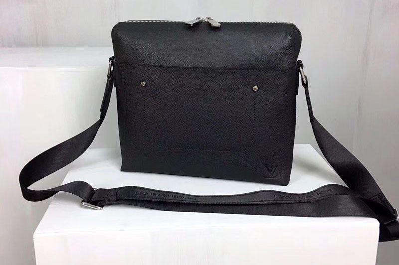8162bf3599af Louis Vuitton Grigori Messenger Pm Taiga Leather M30238 Black ...