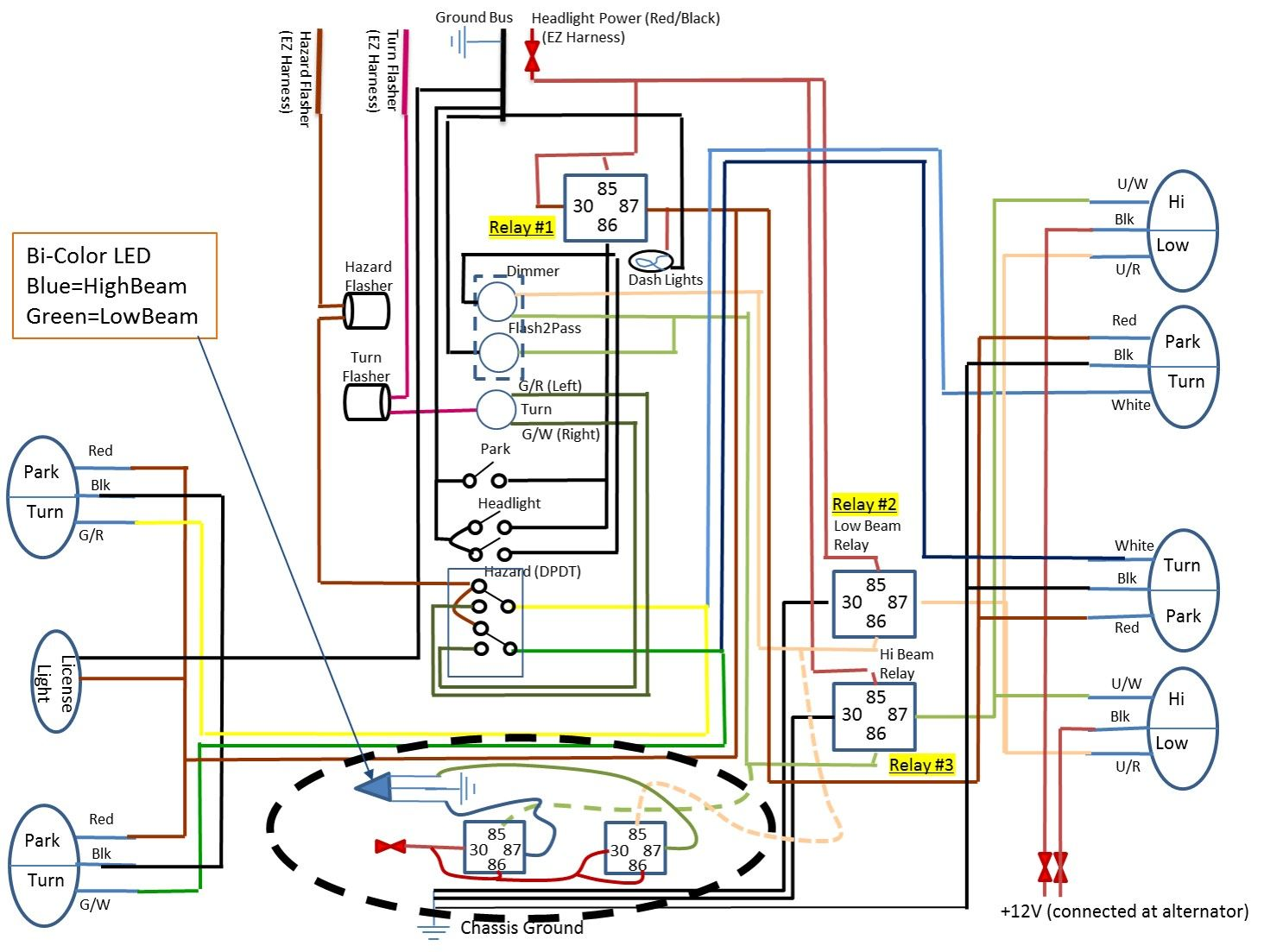 Relay Could Use Some Help On What Should Be A Simple Led Wiringbasic Car Wiring Diagram Electrical Wiring Diagram Light Switch Wiring Dash Lights