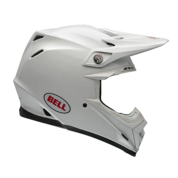 Bell Moto 9 Flex Solid Weiss Motocross Helm Kaufe Deinen