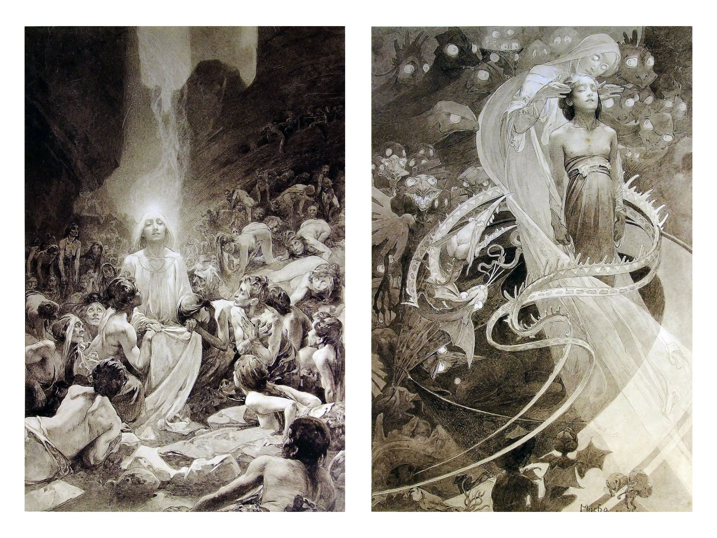 among alphonse mucha s greatest achievements in his mature years among alphonse mucha s greatest achievements in his mature years were his seven pictures from the lord s