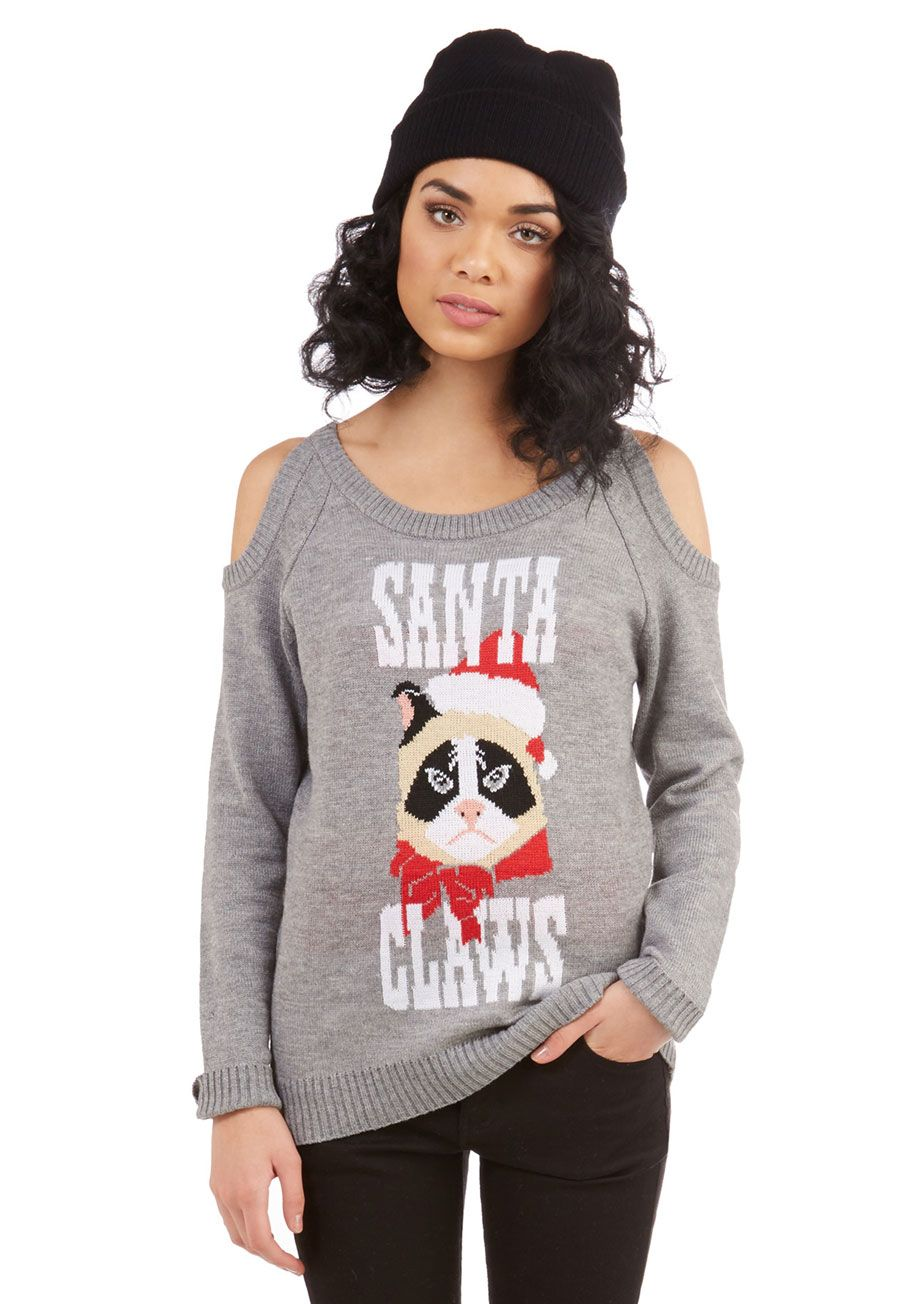 Up to Scratch Grumpy cay Christmas Sweater Santa Claws | * Kiss ...