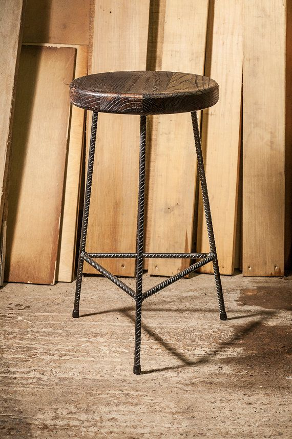 rebar stools tabouret pinterest laiton massif tabouret et chene massif. Black Bedroom Furniture Sets. Home Design Ideas
