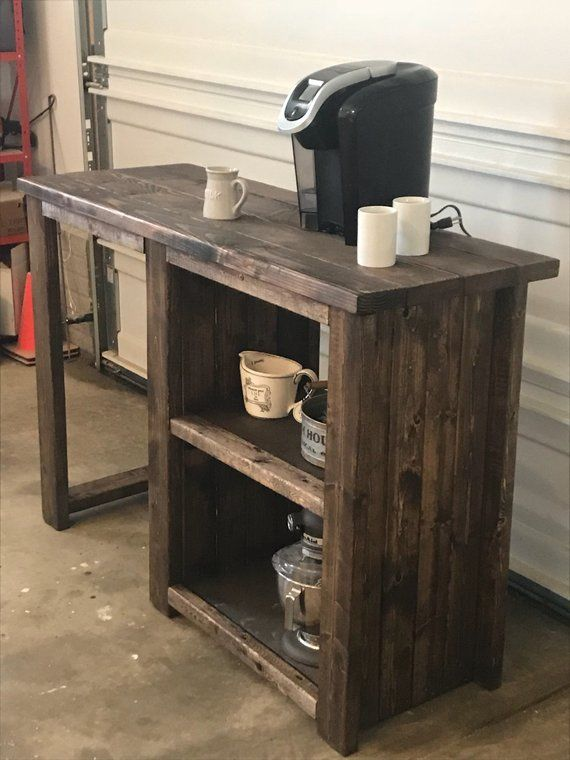 Admirable Coffee Bar With Opening For A Mini Fridge Rustic Open Download Free Architecture Designs Pushbritishbridgeorg