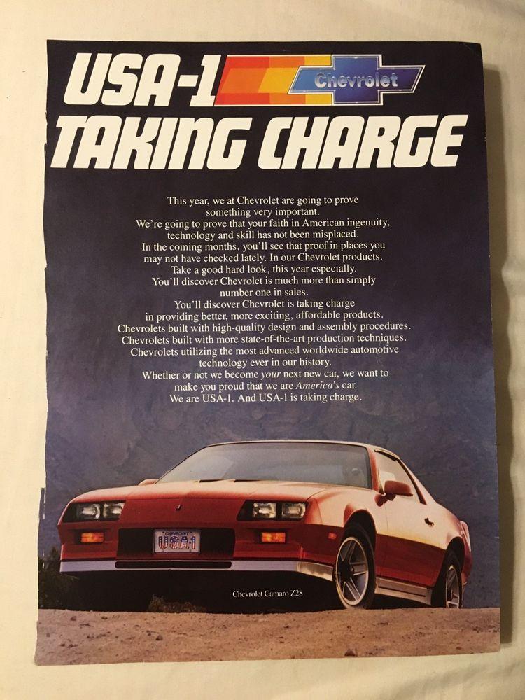 1983 Print Ad Red Chevrolet Camaro Z28 Chevy 5Speed 5
