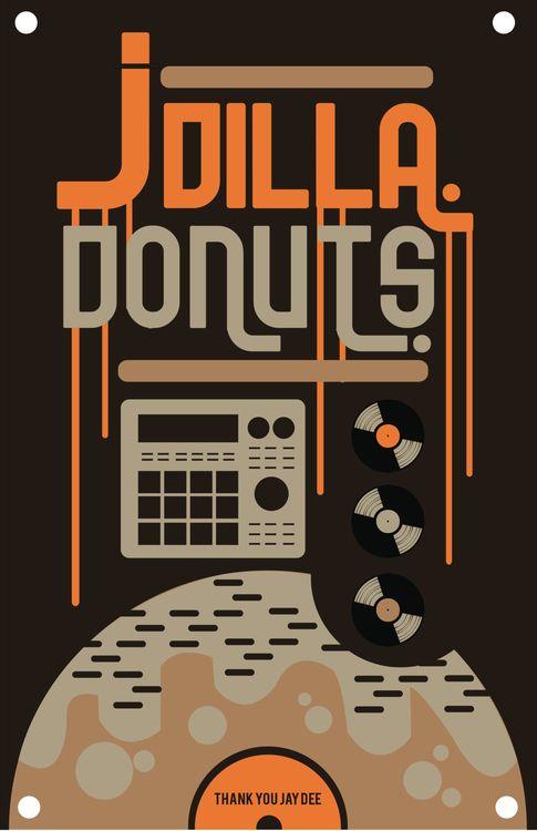 J Dilla donuts graphic poster | J dilla, Hip hop art, Music