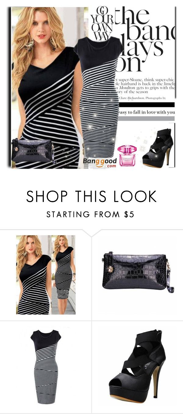 """Banggood I / 22"" by dzenyy ❤ liked on Polyvore featuring Versace and BangGood"