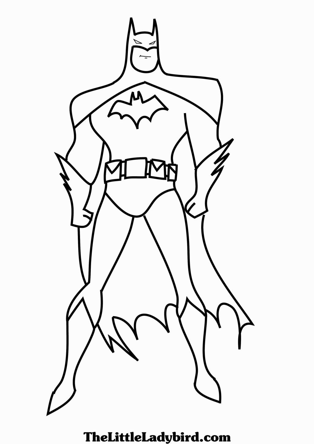 coloring pages batman printable template - photo#36