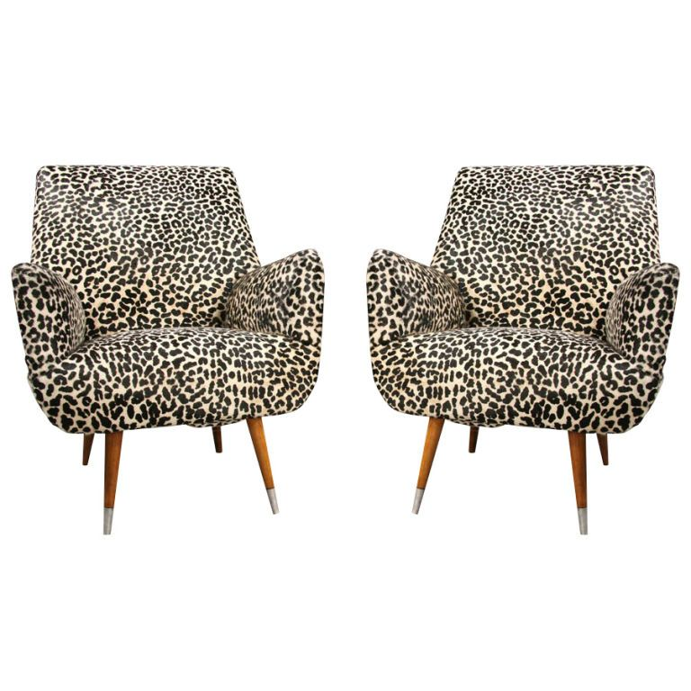 Leopard Print Lounge Chairs