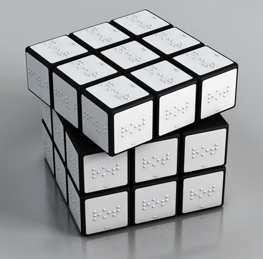 A Rubik's cube for the sight impared
