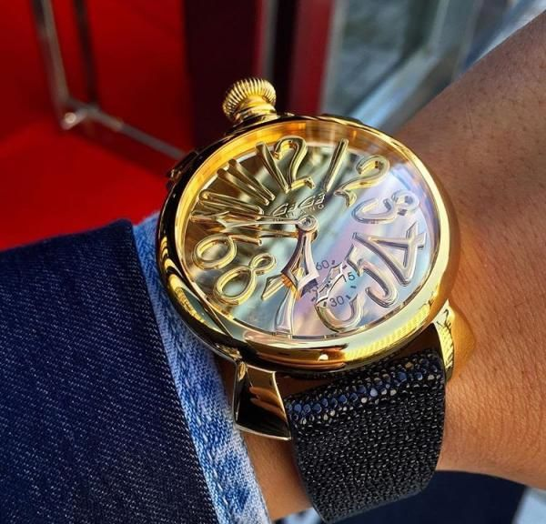 スイスメイド ☆GaGa MILANO☆腕時計 MANUALE 48MM STEEL♪