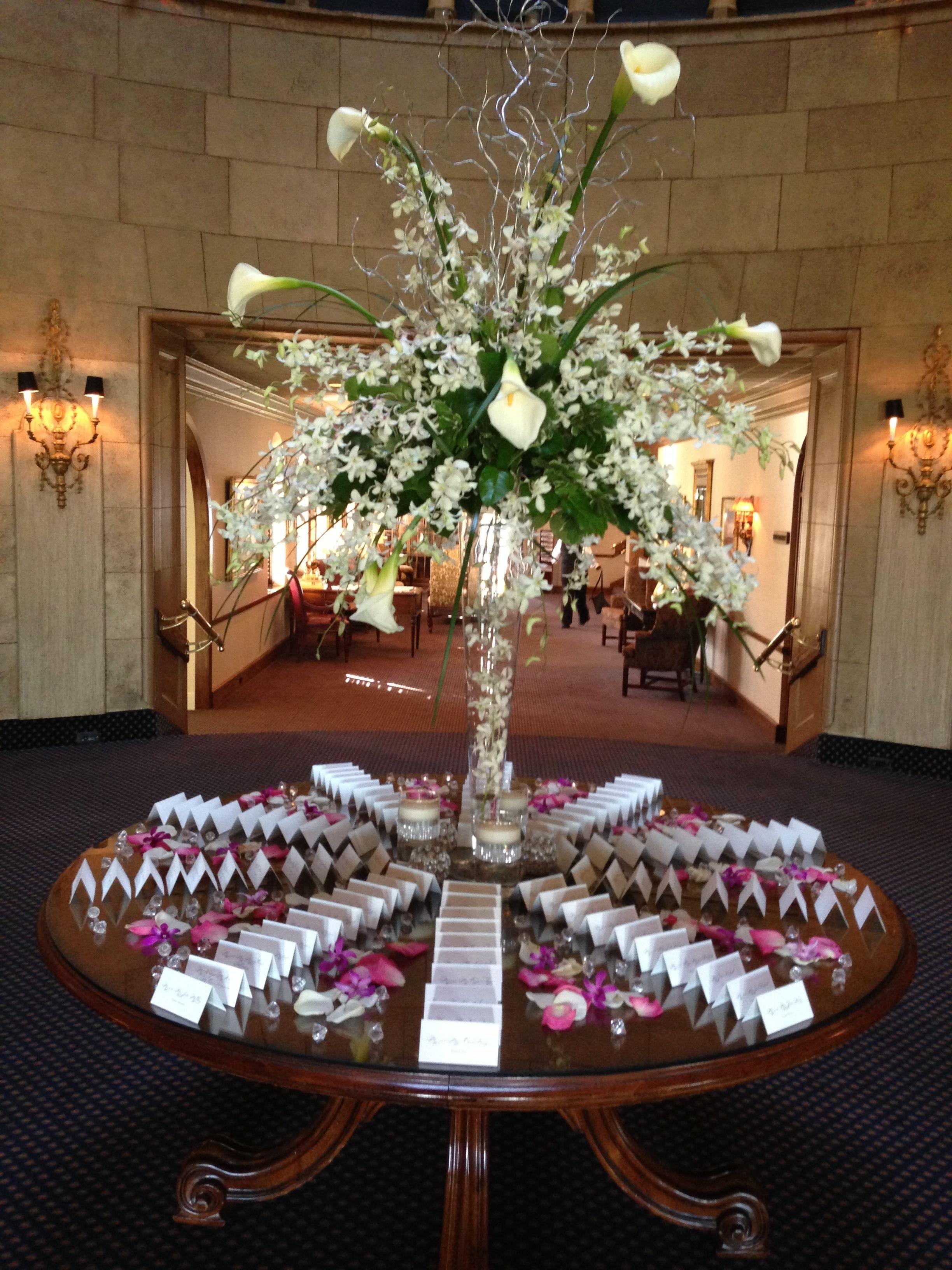 Sparkling crystal wedding theme reception table